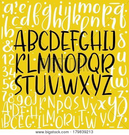 Handwritten Aphabet. Modern Calligraphy Vector Font.