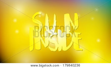 Blurred vector abstract background, yellow bright light