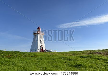 Souris East Lighthouse in Summer  - PEI Canada