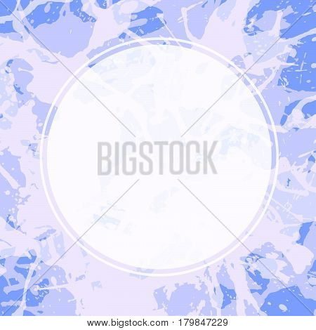 Circle Template Over Artistic Paint Splashes