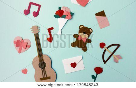 Valentine's Day Couple Lover Paper Mockup
