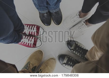 People Standing Shoes Photo Portrait