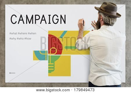illustration of business strategy campaign plan
