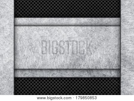 Black Grunge Metal Plate Or Armour Texture, Illustration, 3D