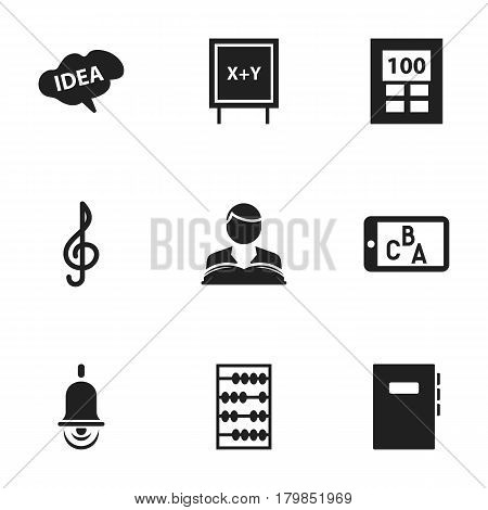 Set Of 9 Editable Graduation Icons. Includes Symbols Such As Arithmetic, Alarm Bell, Mind And More. Can Be Used For Web, Mobile, UI And Infographic Design.