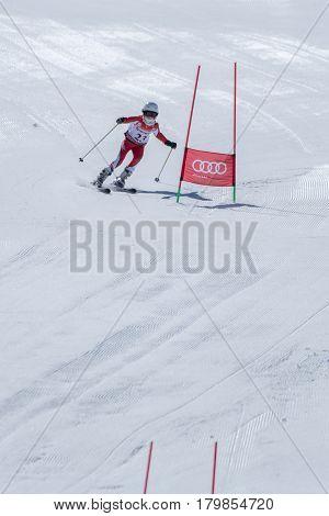 Barbara Silva During The Ski National Championships