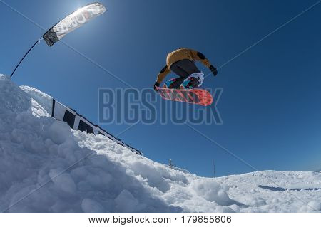 Ricardo Lopes During The Snowboard National Championships