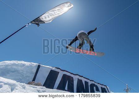 Mateus Morais During The Snowboard National Championships