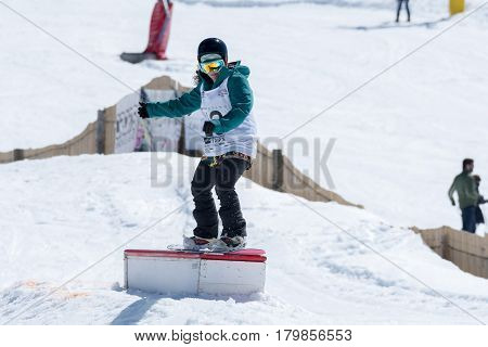 Ines Rainho During The Snowboard National Championships