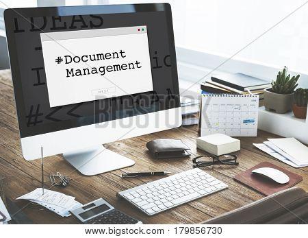 Online data storage document management technology