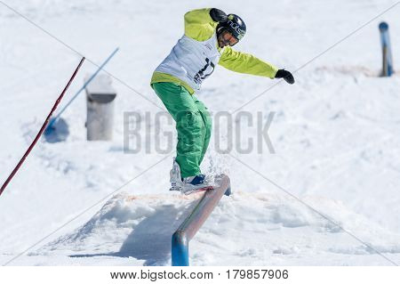 Henrique Nunes During The Snowboard National Championships