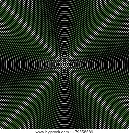 Intersecting Concentric Circles. Moire, Noise Effect Texture / Pattern
