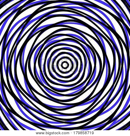Random Concentric Circles. Abstract Background With Irregular Circular Pattern