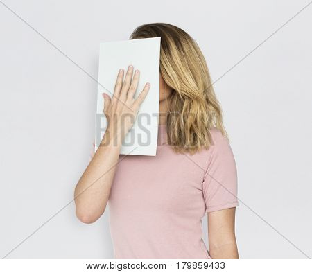 Caucasian Woman Smiling Portrait Concept