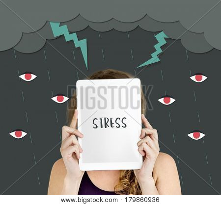 Stress tablet showing rage hidden