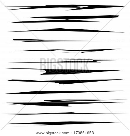 Dynamic sketchy lines grungy brushstrokes. Wound scar damage mark effects poster