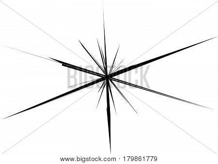 Radial Lines, Star Burst, Sunburst Background. Fash, Glitter Effect