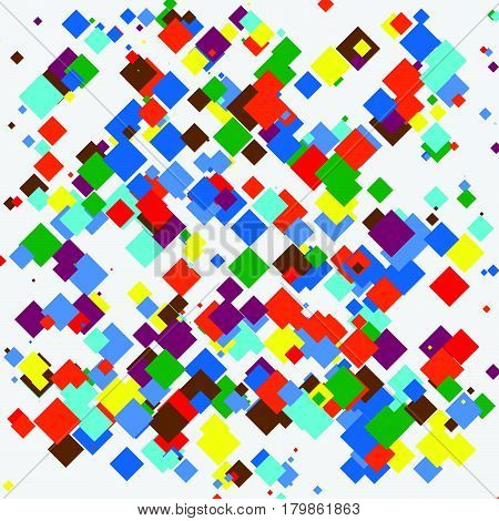 Random Colorful Geometric Pattern / Texture. Mottled Illustration Of Random Overlapping Shapes. Abst
