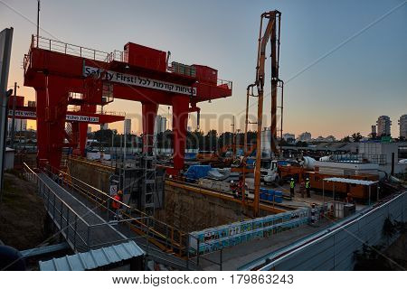 Tel-aviv - 9 December, 2016: Construction Site In Tel Aviv