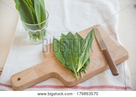 wild garlic, known as ramsons, buckrams, wild garlic, broad-leaved garlic, wood garlic, bear leek or bear's garlic
