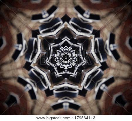 Abstract Mandala 7 Sided Star