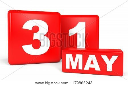May 31. Calendar On White Background.