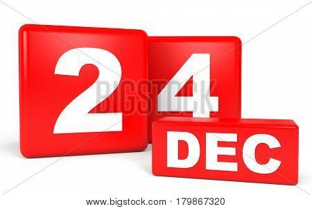 December 24. Calendar On White Background.