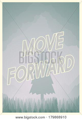 background Design Move Forward Concept