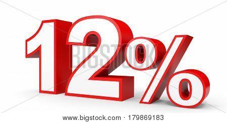 Twelve Percent Off. Discount 12 %.