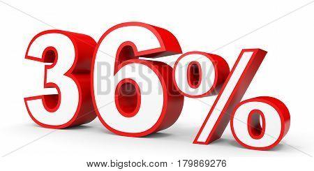 Thirty Six Percent Off. Discount 36 %.