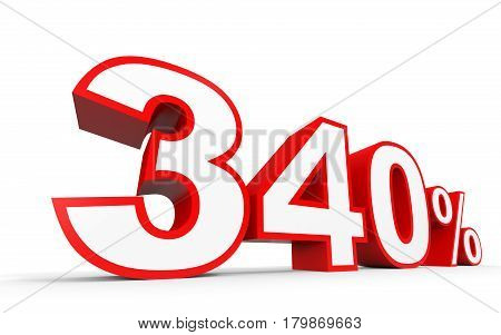 Three Hundred And Forty Percent. 340 %. 3D Illustration.