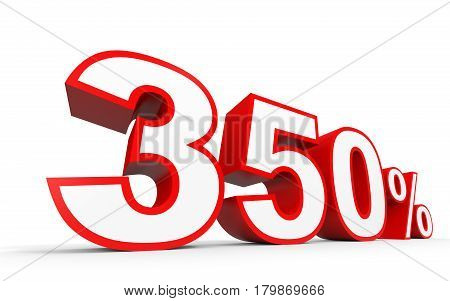 Three Hundred And Fifty Percent. 350 %. 3D Illustration.