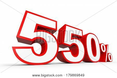 Five Hundred And Fifty Percent. 550 %. 3D Illustration.