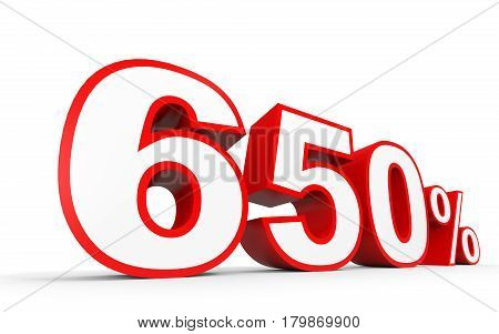 Six Hundred And Fifty Percent. 650 %. 3D Illustration.