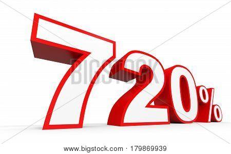 Seven Hundred And Twenty Percent. 720 %. 3D Illustration.