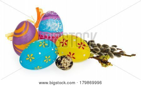 Easter Eggs Hand Painted In Many Colors And Patterns.