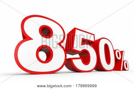 Eight Hundred And Fifty Percent. 850 %. 3D Illustration.
