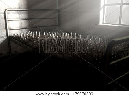 Bed Of Nails In A Room