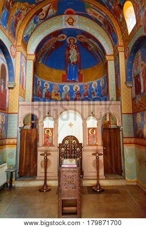 Inside Of Chapel Of Saint David In Tbilisi, Georgia