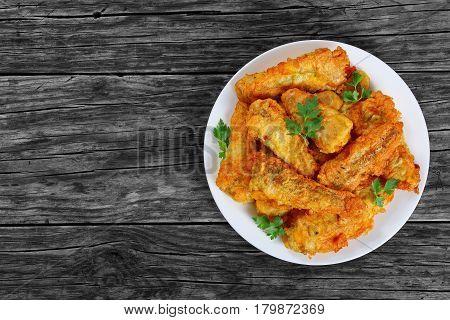 Delicious Golden Batter Deep Fried Fish Fillets