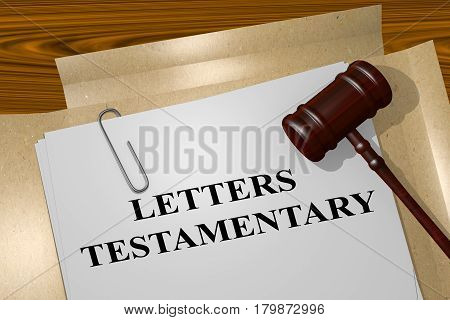 Letters Testamentary - Legal Concept
