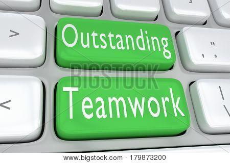 Outstanding Teamwork Concept