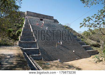 Uxmal, Mexico, circa january 2017: Archeology zone - Zona arqueologica Uxmal in Mexico