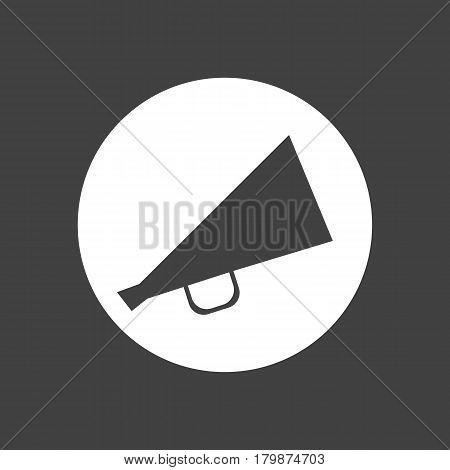 Megaphone vector icon black on white loud speaking symbol