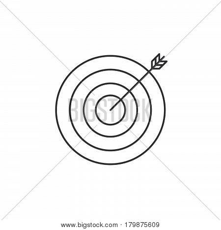 Target thin line icon bullseye outline vector logo illustration linear pictogram isolated on white
