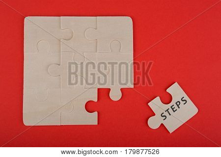 Jigsaw Puzzle Pieces With Word