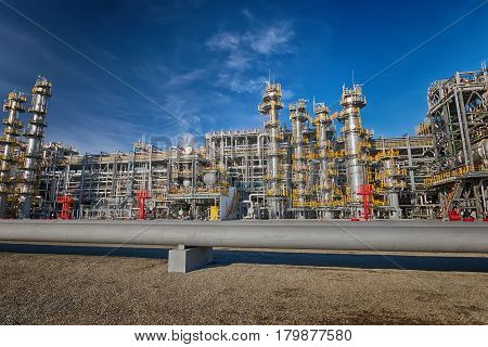 View Of The New Plant Oil Refinery