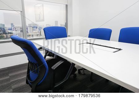 Boardroom setting up ready for business meeting