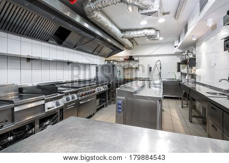 Modern Kitchen In The Restaurant
