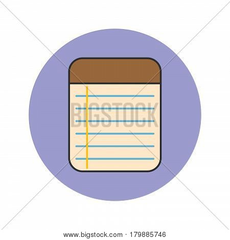 Memo Notepad thin line icon filled outline vector logo illustration linear colorful pictogram isolated on white